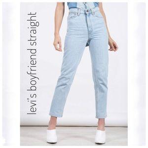 {Levi's} boyfriend jeans straight sim. 2 pic lghtr